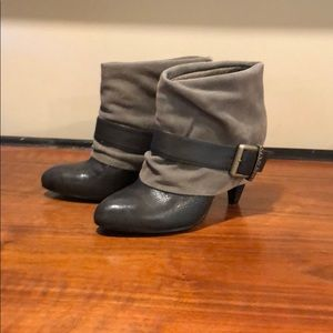 Miss Sixty Gray Buckle Booties - Size 36.5 / 6.5